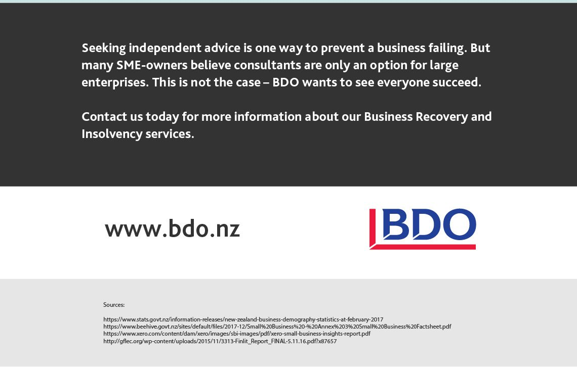 Why do businesses fail in New Zealand?